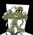 cartoon spooky mummy vector image