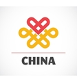 Chinese icon with element and heart vector image vector image