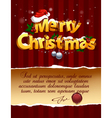 3d christmas lettering vector image vector image