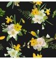 Seamless Pattern Floral Background Spring Flowers vector image