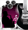 Grunge Music background vector image vector image