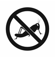 No locust sign icon simple style vector image