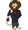 business lion boss in a suit preparing for an impo vector image