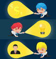 Character Flashlight Search Business Icon vector image