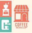 coffee shop grinder machine image vector image