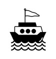 contour ship transportation with flag design and vector image
