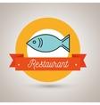 fish food restaurant icon vector image