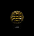 golden mosaic sphere vector image