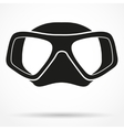 Silhouette symbol of Underwater diving scuba mask vector image