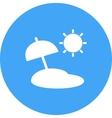 Umbrella on Beach vector image