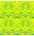 Abstract yellow lace green moire pattern Abstract vector image