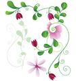 flower elements of the pattern vector image vector image