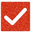 check grunge icon vector image