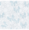 Seamless silvery Christmas pattern vector image