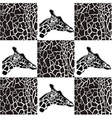 Giraffes patterns for textiles and wallpaper vector image vector image