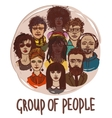 Sketch group of people vector image