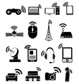Wireless technology icons set vector image