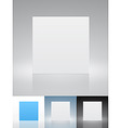 blank presentation cards vector image vector image