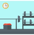 Background of gym with equipment vector image