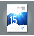 Cover Magazine design template Beautiful business vector image