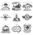 Mountains Black White Labels vector image
