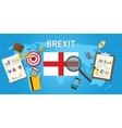 brexit british exit from european organization vector image