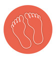 foot plants isolated icon vector image