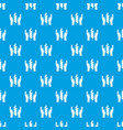 hands and ear of wheat pattern seamless blue vector image