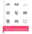 schoolbook icons set vector image