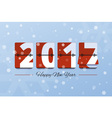 Happy New Year 2017 scoreboard vector image