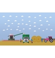 Wheat harvesting combine harvester tractor vector image