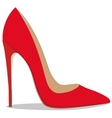 realistic ladies shoe vector image