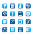 Electrical devices and equipment icons vector image vector image