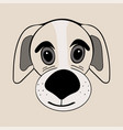 puppy cute funny cartoon dog head vector image