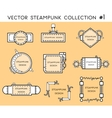 frame in steampunk style vector image