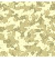 Desert digit camouflage seamless pattern vector image