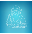 Santa Claus on a Blue Background vector image