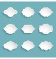 set of 9 blank white frames vector image