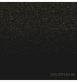Golden rain background vector image vector image