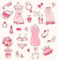 lady dreams graphic set vector image vector image