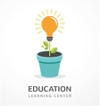 Growing idea - concept icon of education vector image vector image