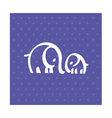 white elephant family simple icon vector image vector image