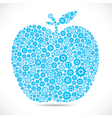 apple design with gear stock vector image