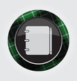 button green black tartan - notepad and pencil vector image