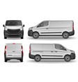 cargo vehicle front side and rear view silver vector image