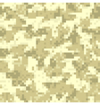 Desert digit camouflage seamless pattern vector image