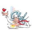 Happy Cook Cook Italian Cuisine vector image