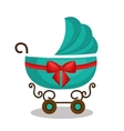 icon baby carriage green design vector image