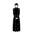 islamic woman vector image