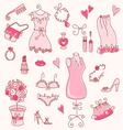 lady dreams graphic set vector image